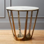Parker White Marble Side Table by CB2