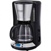 Aparea de cafea Russell Hobbs Victory 24030-56, 1100 W, 1.25 L, Timer LCD, Tehnologie WhirlTech, Inox