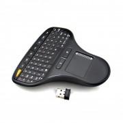Mini Teclado Mouse Ergonomico Touch Inalambrico Smart Tv Box Generico- Negro