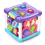 VTechSetToys VTech Early Education Toy Busy Learners Activity Cube Purple Music Toys