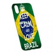 Husa de protectie Football Brazil Apple iPhone X/XS rez. la uzura Silicon 232