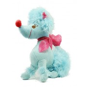 Tickles Blue Hanging Poodle Dog with Loop Stuffed Soft Plush Toy Love Girl 16 cm