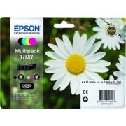 Epson T18164010 Tintapatron multipack XP 30, 102, 202, 205 nyomtatókhoz, EPSON b+c+m+y, 31,3ml Eredeti kellékanyag
