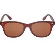 wayferer Retro Square Sunglasses(Brown)