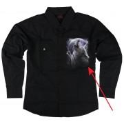 košile pánská s dlouhým rukávem SPIRAL - WOLF SOUL - POŠKOZENÁ - BEA162