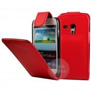 Samsung I8190 Galaxy S III mini Flip Калъф Червен + Протектор