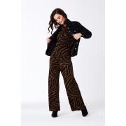 ''Gina Tricot'' ''Alma byxa'' ''Brown zebra (7897)'' L