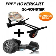 "FREE Suspension Hoverkart with 8.5"" Black All Terrain Bluetooth Segway Hoverboard - Bundle Deal"