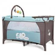 Детска кошара на 2 нива Sleepy, Moni, синя, 356185