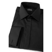 Pánská košile SLIM krytá lega na MK černá Avantgard 111-23-41/182