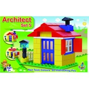 toyztrend architect set 5. 90 pieces building blocks for young builders who wants to create big empires.