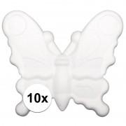 Rayher hobby materialen 10x Piepschuim vlinders van 12,5 cm