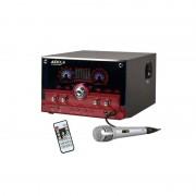 Audiola Majestic AHB-2290K Sistema de Som 2.1 USB SD AUX MIC inclui Microfone Vermelho