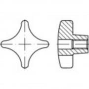 TOOLCRAFT križne ručke DIN 6335 6 mm od sivog lijeva 10 komada