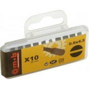 "Set 10 bituri pentru locas cu crestatura 1/4"" - 0,5×4 - L: 25 mm Nr.buc.: 10. - Mob-Ius"