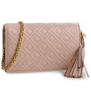 Дамска чанта TORY BURCH - Fleming Flat Wallet Cross-Body 46449 Shell Pink 652