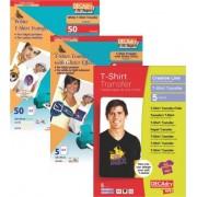 Hartie transfer tricouri albe A4 DECAdry Inkjet DCI1770 50 coli