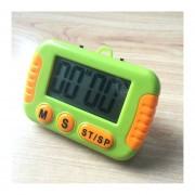 Cocina Temporizador Electrónico Digital Con Pantalla LCD De Alarma Alto Horno Para Cocinar Juegos De Deportes Office (verde)