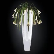 Aranjament floral PARIS IN SHINY VASE, alb 210cm