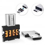 Portable Mini MicroUSB / USB OTG Adapter - Silver