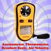 Gadget Hero's Digital LCD Pocket Anemometer Wind Speed Meter Thermometer Beaufort Wind Scale Handheld Ideal For Weather Enthusiast Or Professional.