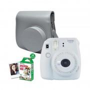 Fujifilm Instax Mini 9 Instant Camera Smokey White + enkelpak film (10 foto's) + case
