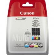 Canon Originale Pixma MX 725 Cartuccia stampante (CLI-551 / 6509 B 008) multicolor Multipack (4 pz.), Contenuto: 7 ml