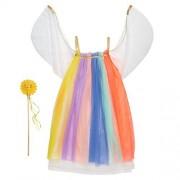 Meri Meri , niña arco iris vestir 5-6 años, cumpleaños, decoración de fiesta