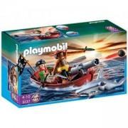 Комплект Плеймобил 5137 - Пиратска лодка с акула, Playmobil, 290698