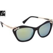 Aislin Cat-eye Sunglasses(Green)