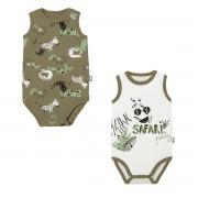 Petit Béguin Lot de 2 bodies bébé garçon débardeurs bébé Nerobi - Taille - 12 mois