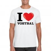Shoppartners I love voetbal t-shirt wit heren