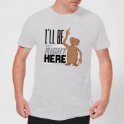 E.T. the Extra-Terrestrial Camiseta E.T. el extraterrestre I'll Be Right Here - Hombre - Gris - 3XL - Gris