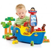 Small World Toys Ryans Room Educational-Molto Pirate Ship w/ 30 Blocks Building (2 Piece)