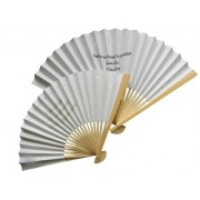Personalised Plain Coloured Paper Fans