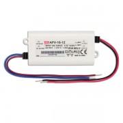 Transformator Sursa Profesionala de tensiune constanta Mean Well APV-16-12 IP20 230V la 12V 1.25A 16W