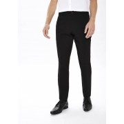 Taylor & Wright Mens Formal Slim Fit Trousers in 32 Waist 33 Leg, Black