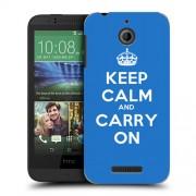 Husa HTC Desire 510 Silicon Gel Tpu Model Keep Calm Carry On