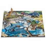Schleich North America Mini Dinosaurs with Water Hole Puzzle