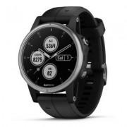 Garmin Zegarek sportowy z GPS GARMIN Fenix 5S Plus 42mm Srebrny z czarnym paskiem 010-01987-21