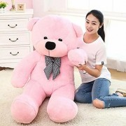 Stuffed Spongy Soft Teddy Bear (Pink 6 Feet)