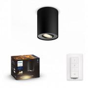 Philips Hue 56330/30/P7 LED přisazený lustr Pillar 1x5,5W GU10 - Bluetooth, s dálkovým ovládáním