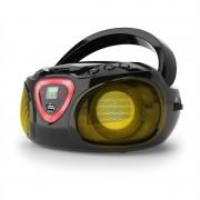 Auna Radio Boombox CD USB MP3 AM / FM Bluetooth 2.1 cu LED Culoare negru (MG3-Roadie BkBT USB)