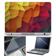 FineArts Laptop Skin Abstract Series 1053 With Screen Guard and Key Protector - Size 15.6 inch