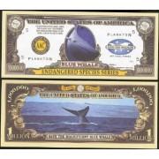 Endangered Blue Whale Million Dollar Bill Set Of 25