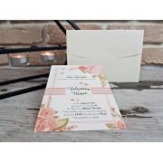 Invitatie de nunta cu tematica florala cod 2747