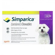 Simparica Flea & Tick Chewables For Dogs 5.6-11 Lbs (Purple) 3 Pack