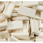 LEGO Bulk Parts: (25x) Tile 1 x 2 with Groove - WHITE