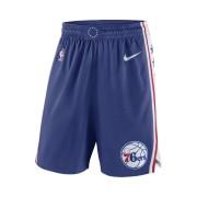 Short de NBA Philadelphia 76ers Nike Icon Edition Swingman pour Homme - Bleu