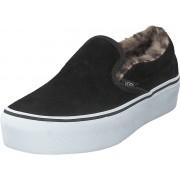 Vans Ua Classic Slip-on Platform (suede/fur) Black/leopard, Skor, Lågskor, Tygskor, Svart, Dam, 38
